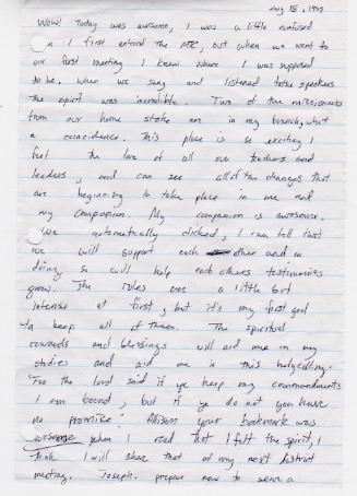 Adam's Letters 8-18-99 1a